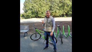 Харьковская велодорожка - овцы, лошади, собаки и экскаватор :)