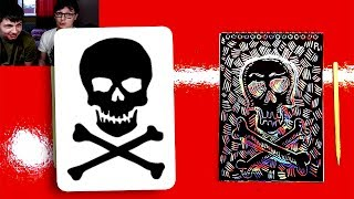 Череп и Кости / Пиратский флаг / рисуем на СКРАТЧНОТ