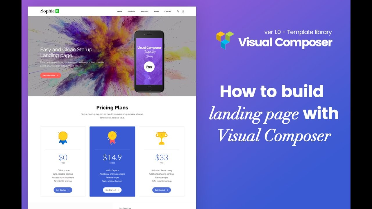 visual composer build landing page with plugin vc template liblary youtube. Black Bedroom Furniture Sets. Home Design Ideas