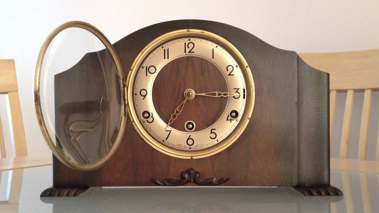 british made bentima perivale westminster chime art deco mantle clock youtube - Mantle Clock