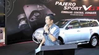 Mitsubishi Pajero Sport VGT launch presentation