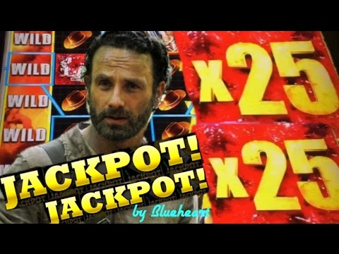 ★★JACKPOT HANDPAY★★ The WALKING DEAD 2 slot machine AMAZING WINS and JACKPOT! - 동영상