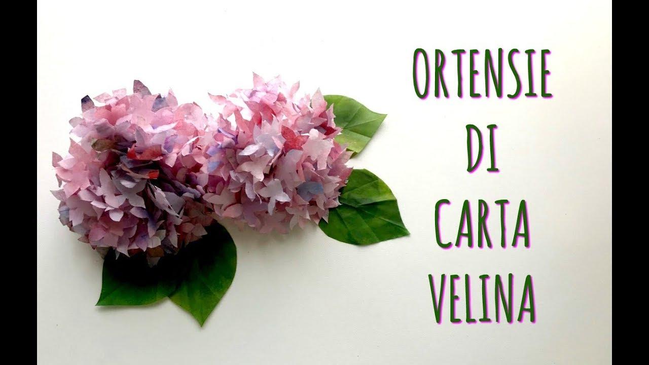 Ortensie Bellissime E Super Realistiche Con Carta Velina Fiori Di Carta Arte Per Te