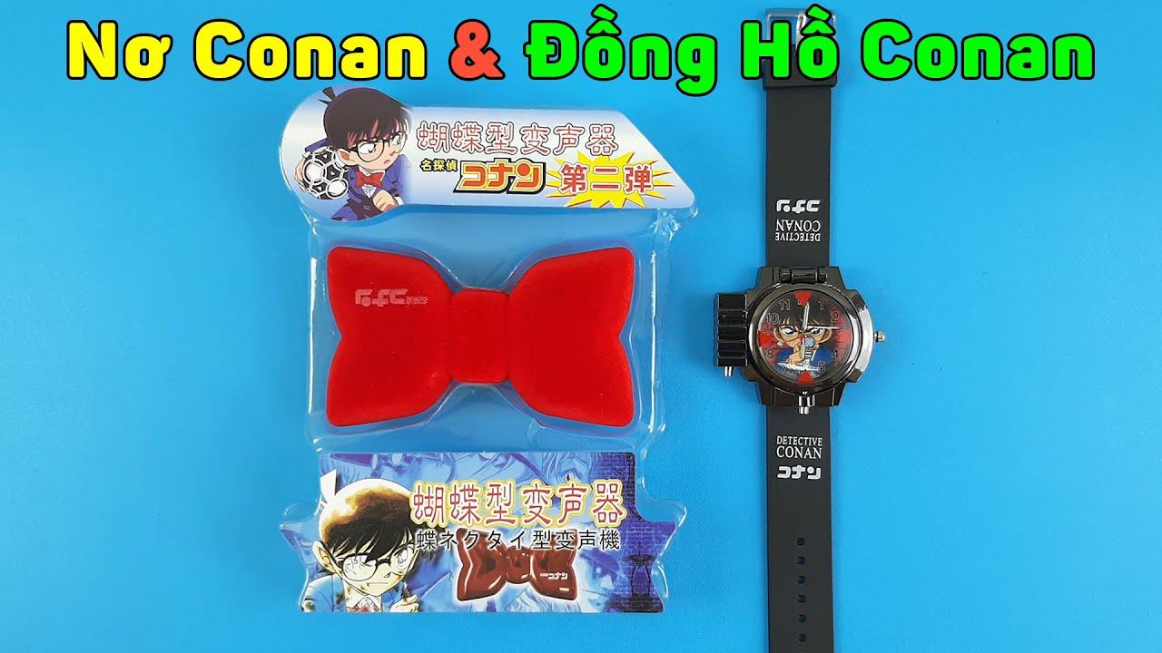 Nơ Đổi Giọng Thám Tử Conan Và Đồng Hồ Conan, Mở Hộp Hàng Mua Online Trên Shopee