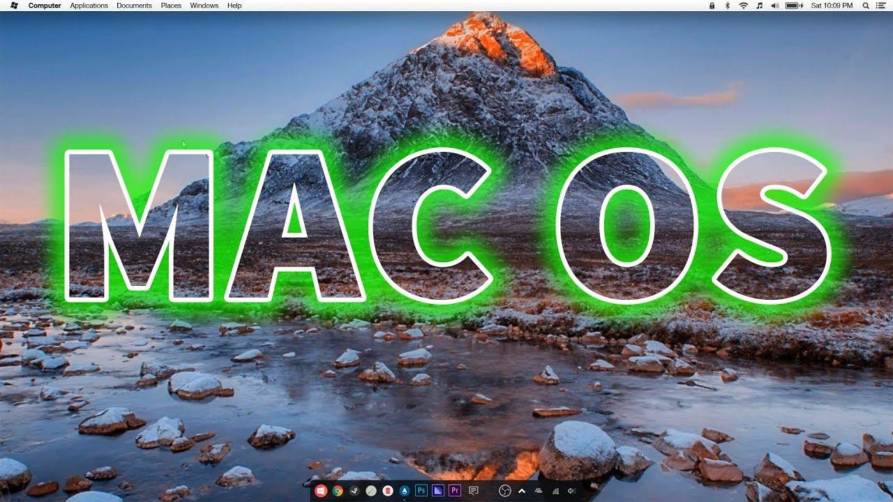 Khoác áo MAC OS cho Win 10