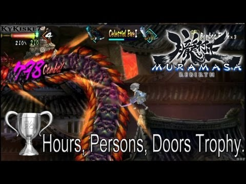 Muramasa Rebirth - Hours, Persons, Doors, Trophy Guide 999 Hit-Combo