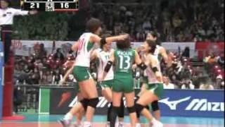Kim Yeon-Koung - 2009/2010 JAPAN V-League JT vs NEC(100124)