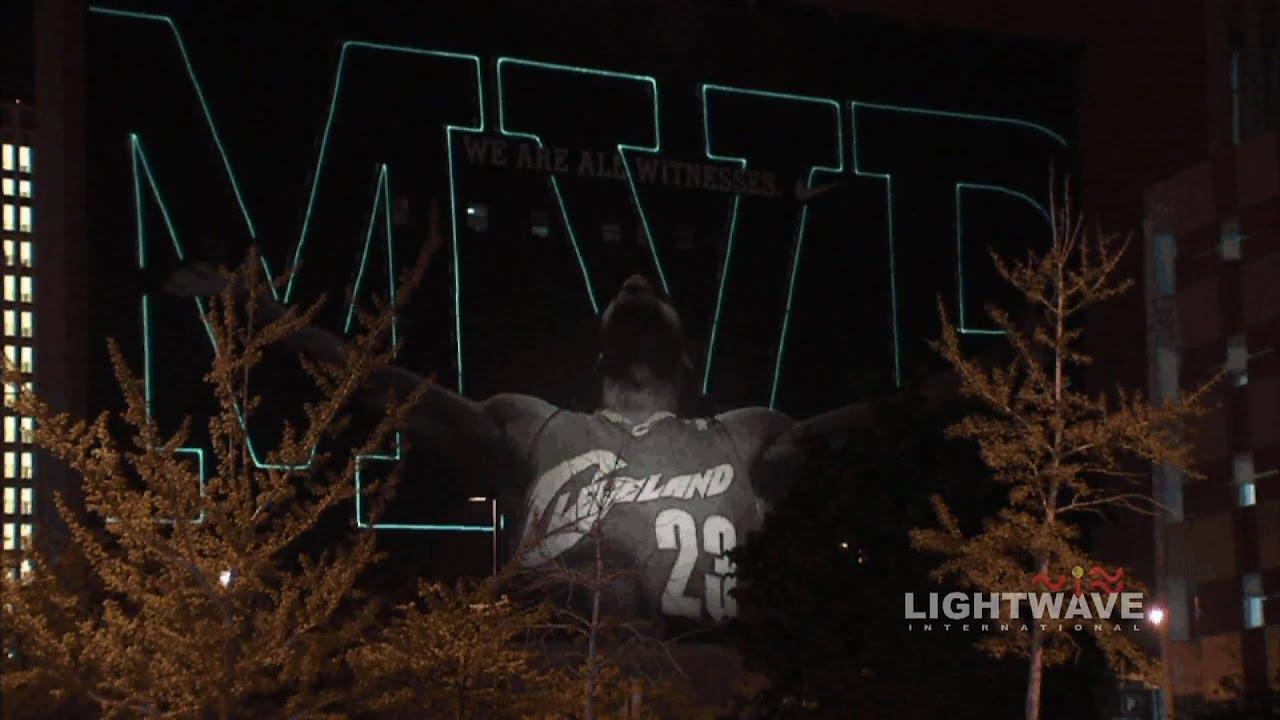 467b633ca LeBron James - Cleveland Cavaliers - Nike MVP Laser Projection by Lightwave  International