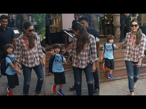 Omg ! Gauri Khan First Time Comes To Pick Step Son Abram Khan From His School