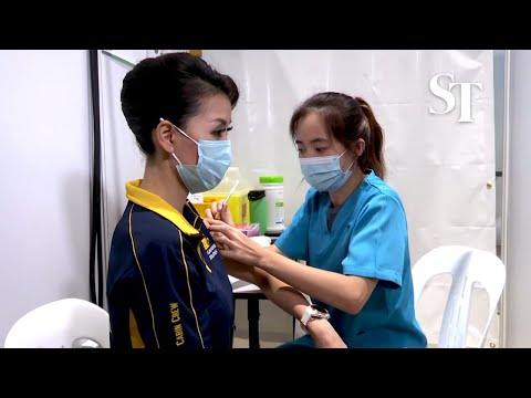 Covid-19 vaccination starts for air crew, airport front-liners at Changi T4 thumbnail
