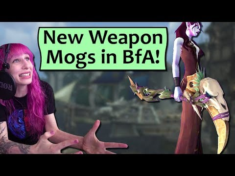 New Weapon Appearances In BfA! Checking Out Weapon Mogs In Battle For Azeroth