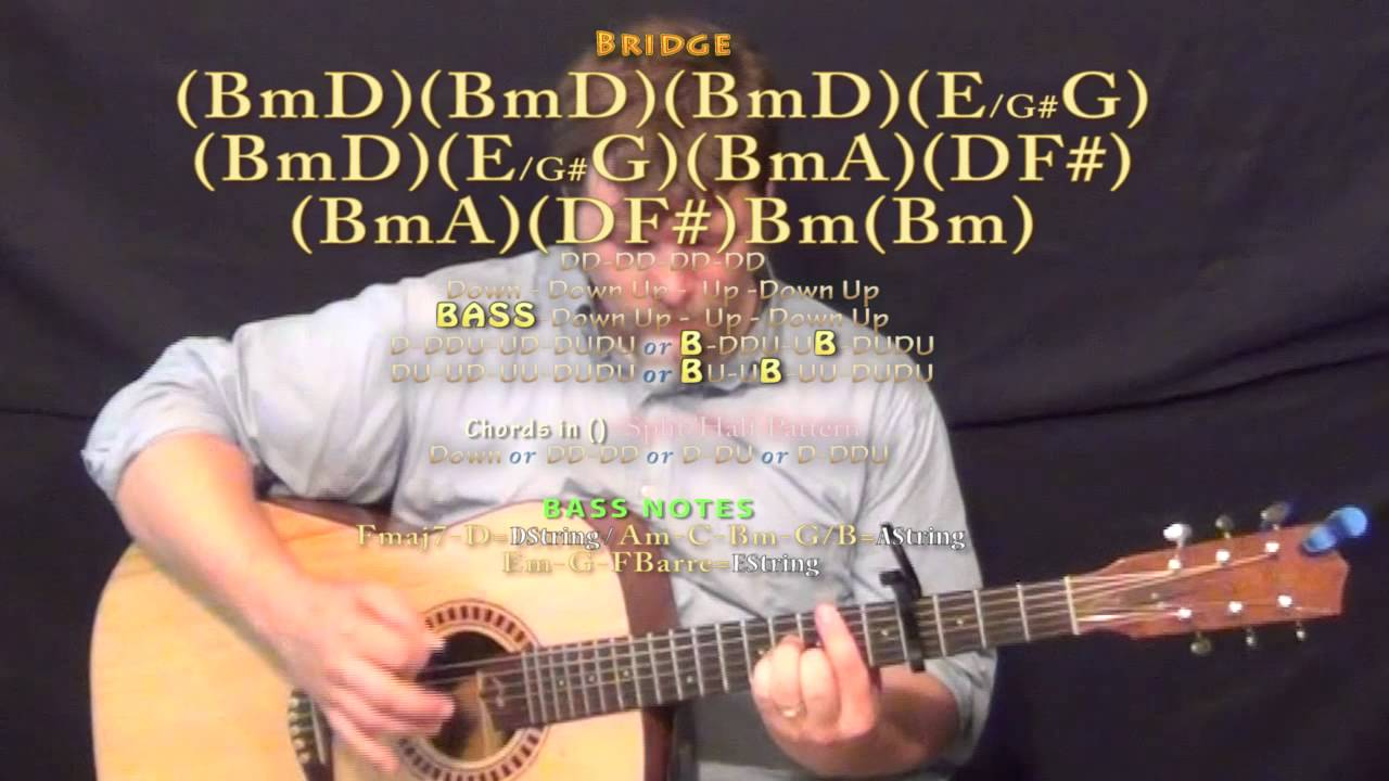 Eveyday (A$AP Rocky) Guitar Lesson Chord Chart - Capo 4th - YouTube