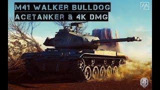 World of Tanks - M41 Walker Bulldog - Karelia - 4k dmg & AceTanker
