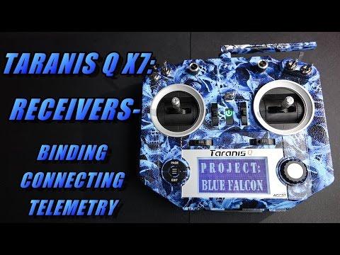 Taranis Q X7: Connecting Receiver (bind, wiring, telemetry)