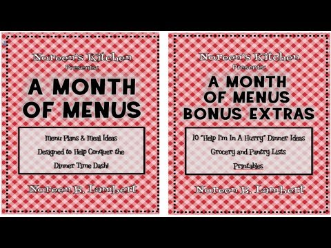 A Month Of Menus ~ Meal Planning Cookbook Release ~ Noreen's Kitchen