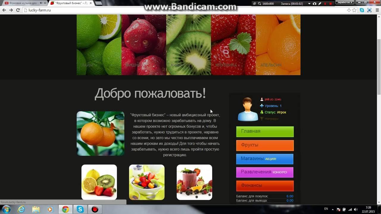 игра фруктовый бизнес с выводом денег