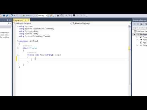 Create a Basic Console Application Visual Studio 2013 C#.Net - Video