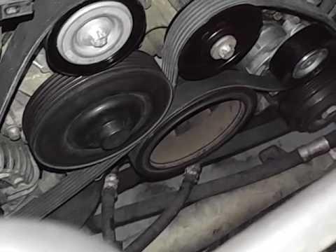 2013 C300 drive belt installation - YouTube