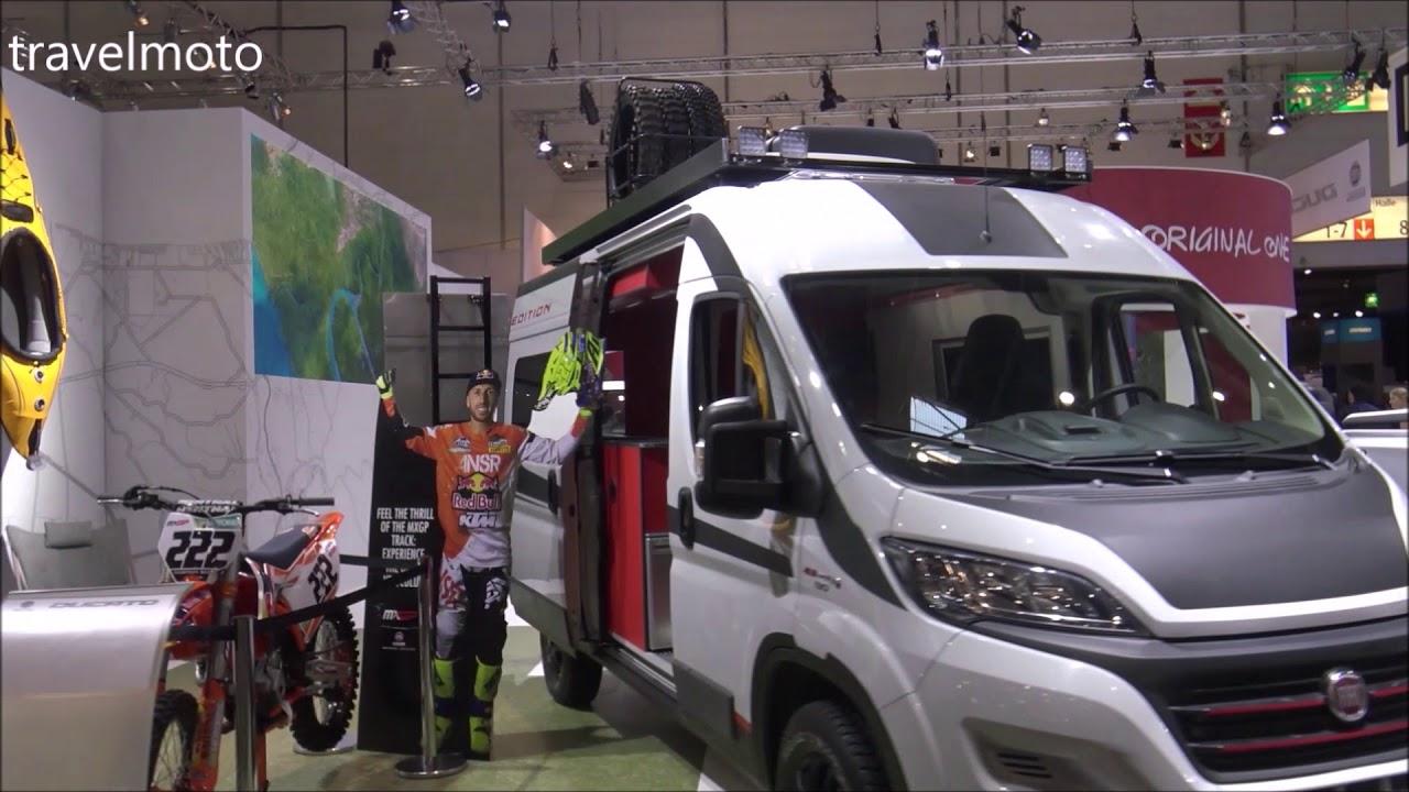 camper van for dirt bikes fiat ducato multijet 2018 youtube. Black Bedroom Furniture Sets. Home Design Ideas