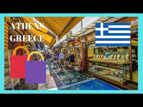 ATHENS: The traditional FLEA MARKET at MONASTIRAKI (GREECE)