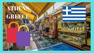 ATHENS: The traditional FLEA MARKET at MONASTIRAKI (GREECE)
