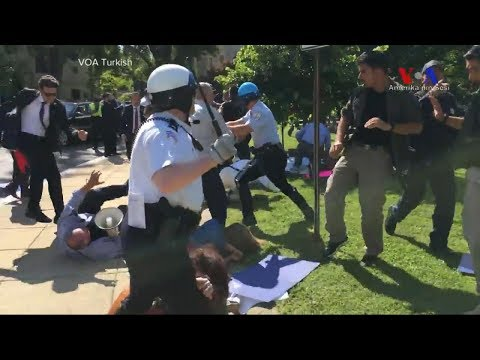 A violent brawl outside the Turkish embassy in Washington, D.C.