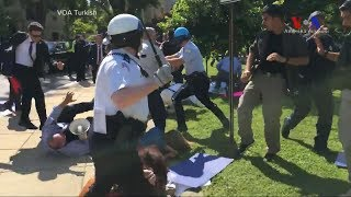 A violent brawl outside the Turkish embassy in Washington, D C