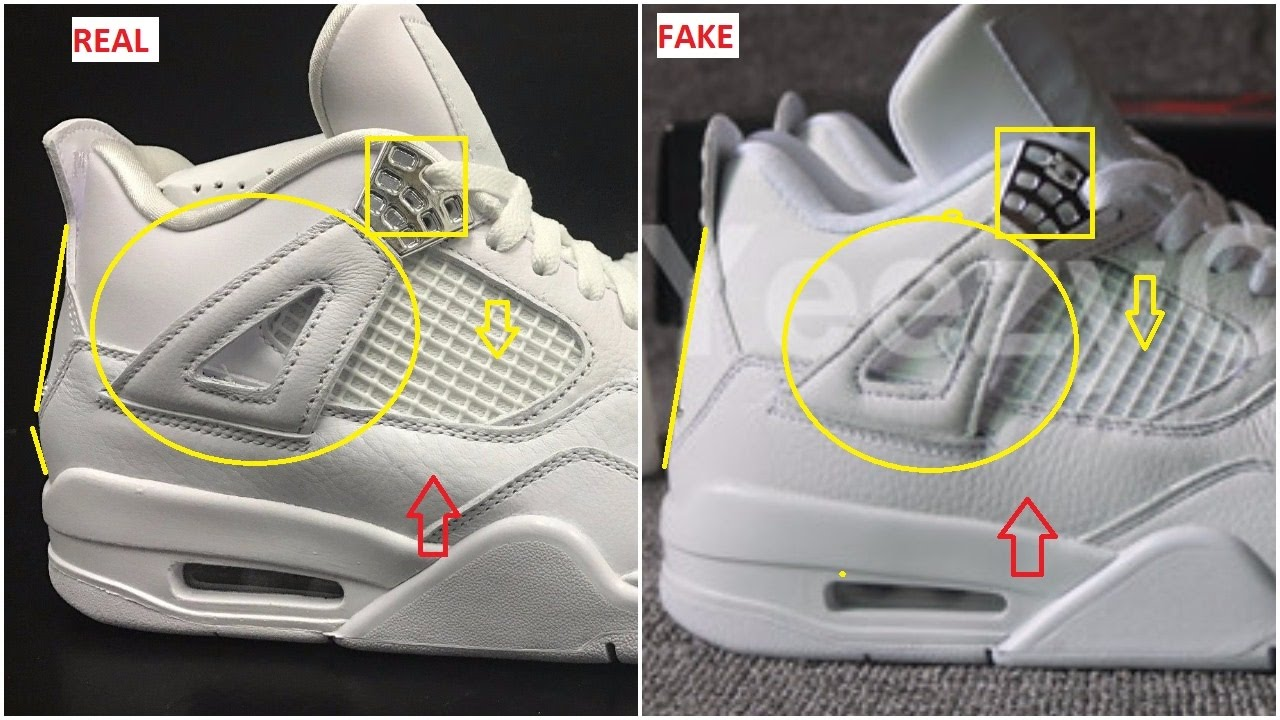 Next To Real Retro S Fake Retro S: Fake Air Jordan 4 Pure Money Spotted- Quick Ways To
