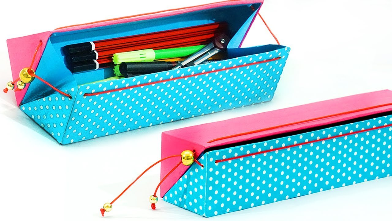 diy pencil case how to make pencil case from waste. Black Bedroom Furniture Sets. Home Design Ideas