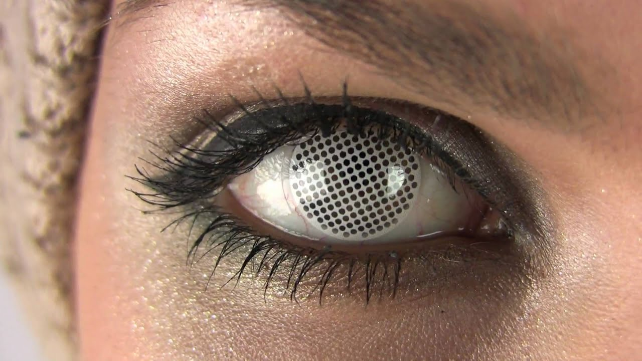 white screen mesh contact lenses youtube
