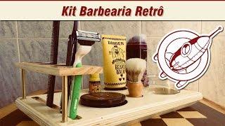 Kit Barbearia Retrô - Como Fazer - Barbershop Vintage - Marcenaria Criativa