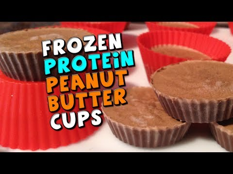 Frozen PROTEIN Peanut Butter Cups Recipe (22g Protein + Low fat/carbs!)