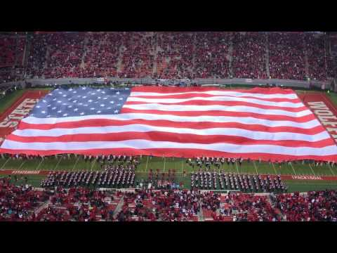 NC State marching band performs Amazing Grace