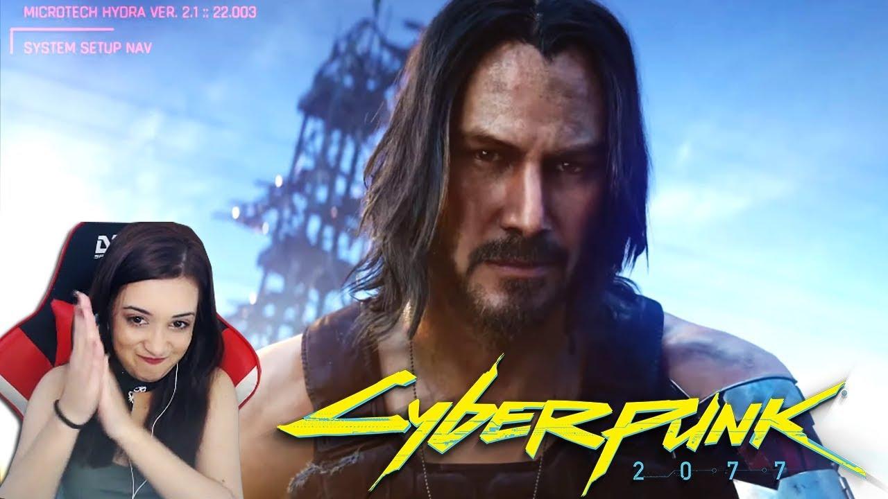 REACT: KEANU REEVES EM CYBERPUNK 2077 na E3 2019