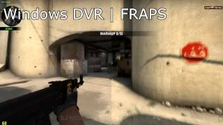 Windows DVR Analysis - Comparison with FRAPS