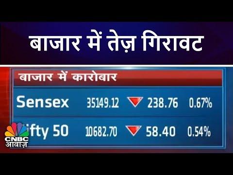 बाजार में तेज़ गिरावट   निफ़्टी 10700 के नीचे   Market Top 20   CNBC Awaaz