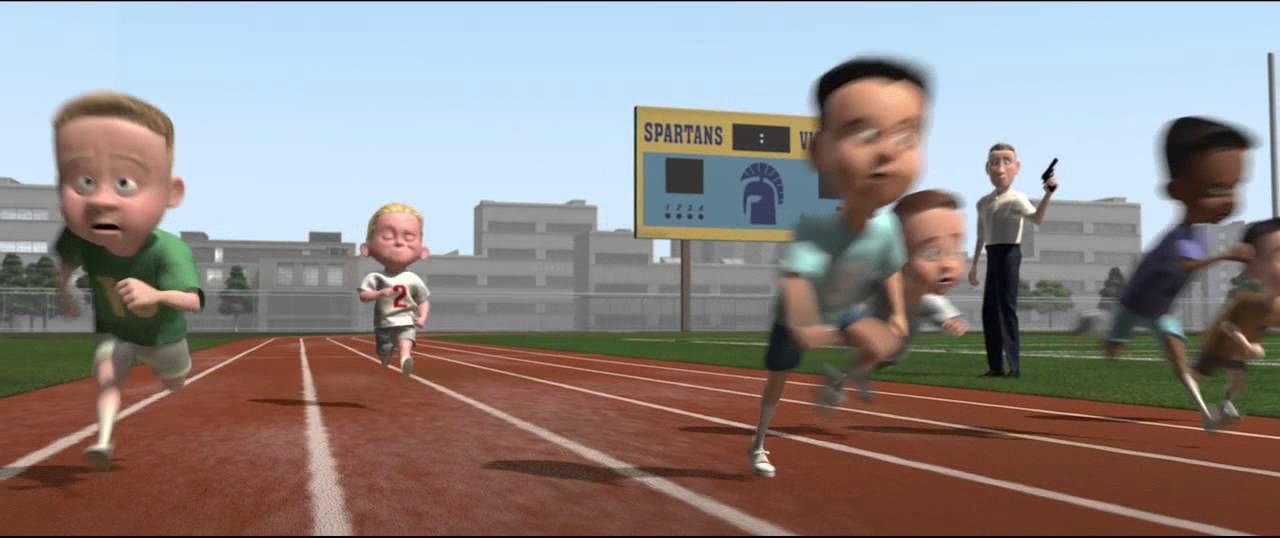 The Incredibles Race Scene YouTube