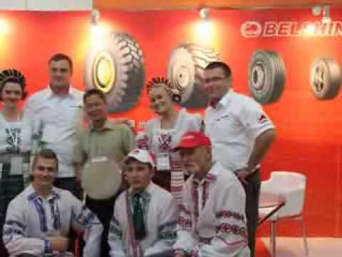 Belshina booth with Ternitsa band at Mining Indonesia 2013