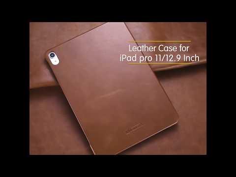 ICARER 復古系列 iPad Pro 12.9 2018 三折站立 手工真皮皮套