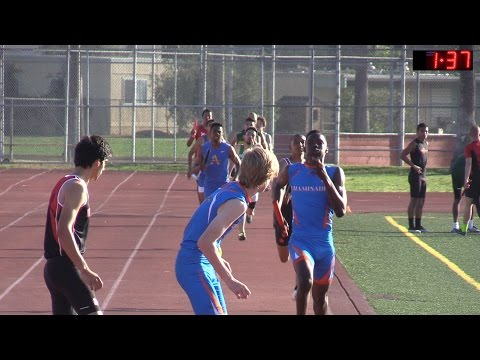 2016 TF - CIF-SS D3 Prelims - Boys 4 x 400M Relay (5 Heats)