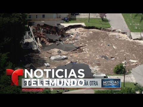 La tierra se traga a una casa en Florida   Noticiero   Noticias Telemundo