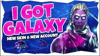 I GOT THE GALAXY SKIN?!?!? | NEW SKIN AND NEW ACCOUNT!!! [Fortnite: Battle Royale]