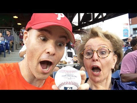 With my mom at Citizens Bank Park