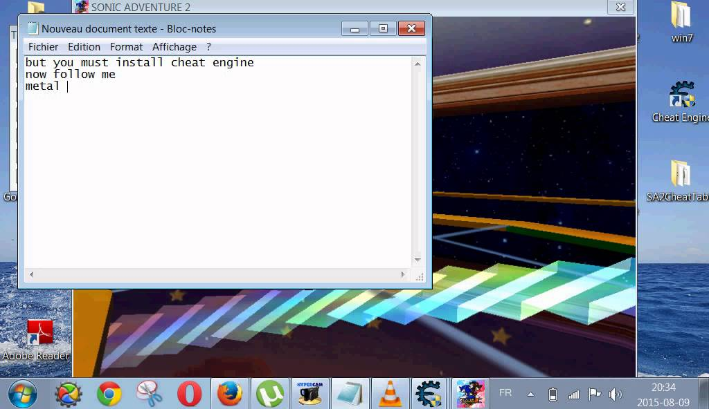 How to hack sonic adventure 2 battle pc