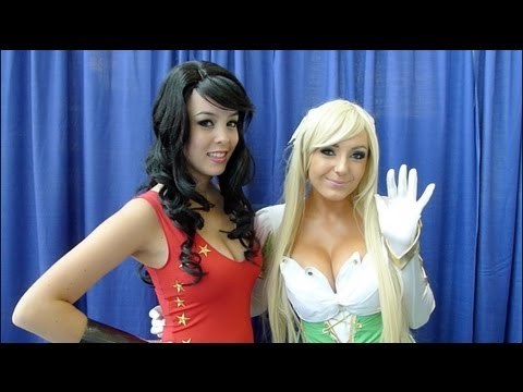 Jessica Nigri & Monika Lee Hot Cosplay Comic-Con 2012