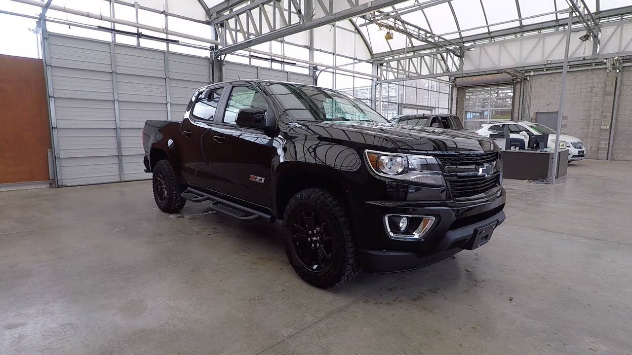 2018 chevrolet colorado crew cab short box 4 wheel drive z71 midnight edition youtube. Black Bedroom Furniture Sets. Home Design Ideas