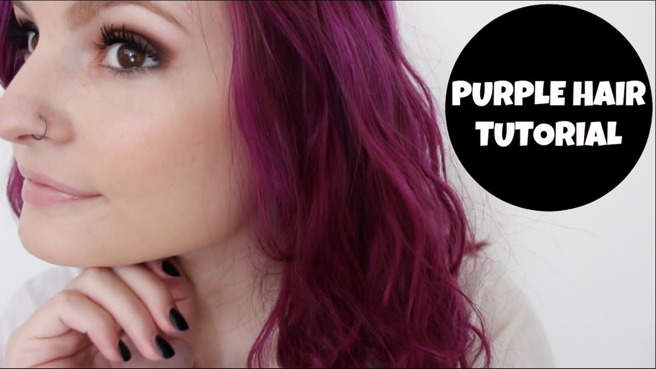How To Bright Purple Hair Age Beautiful Hair Color Alyssa