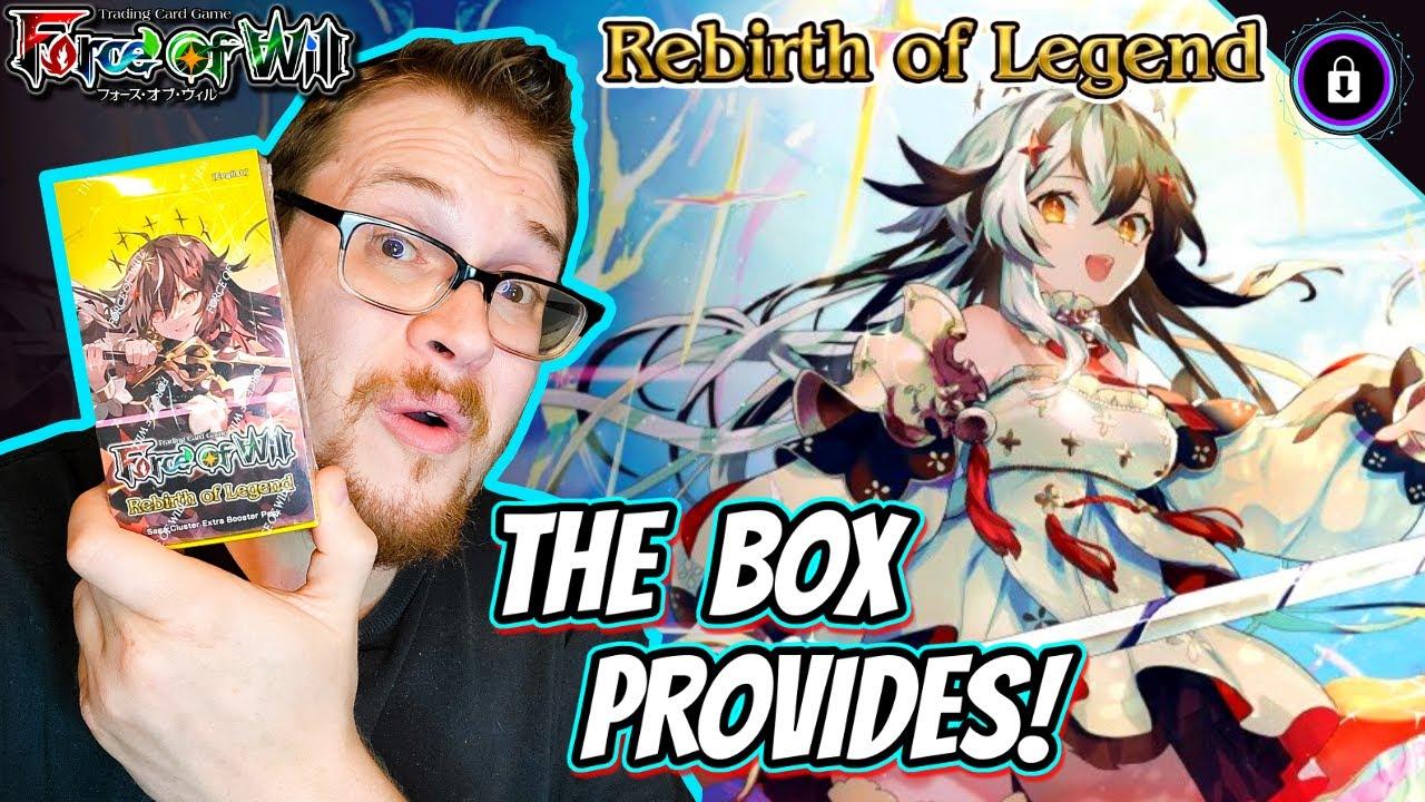The Box Provides! - REBIRTH Of LEGEND (BONUS!) Mini Booster Cracking   Force of Will TCG