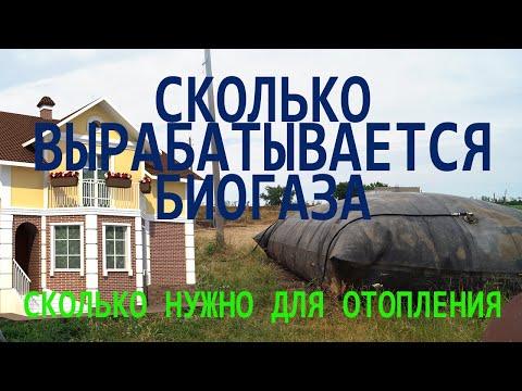 количество биогаза для отопления дома, какой объем биореактора нужен