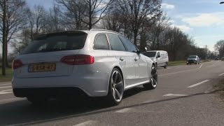 Audi RS4 B8 w/ Akrapovic exhaust | REVS + Detailshots + LOUD acceleration